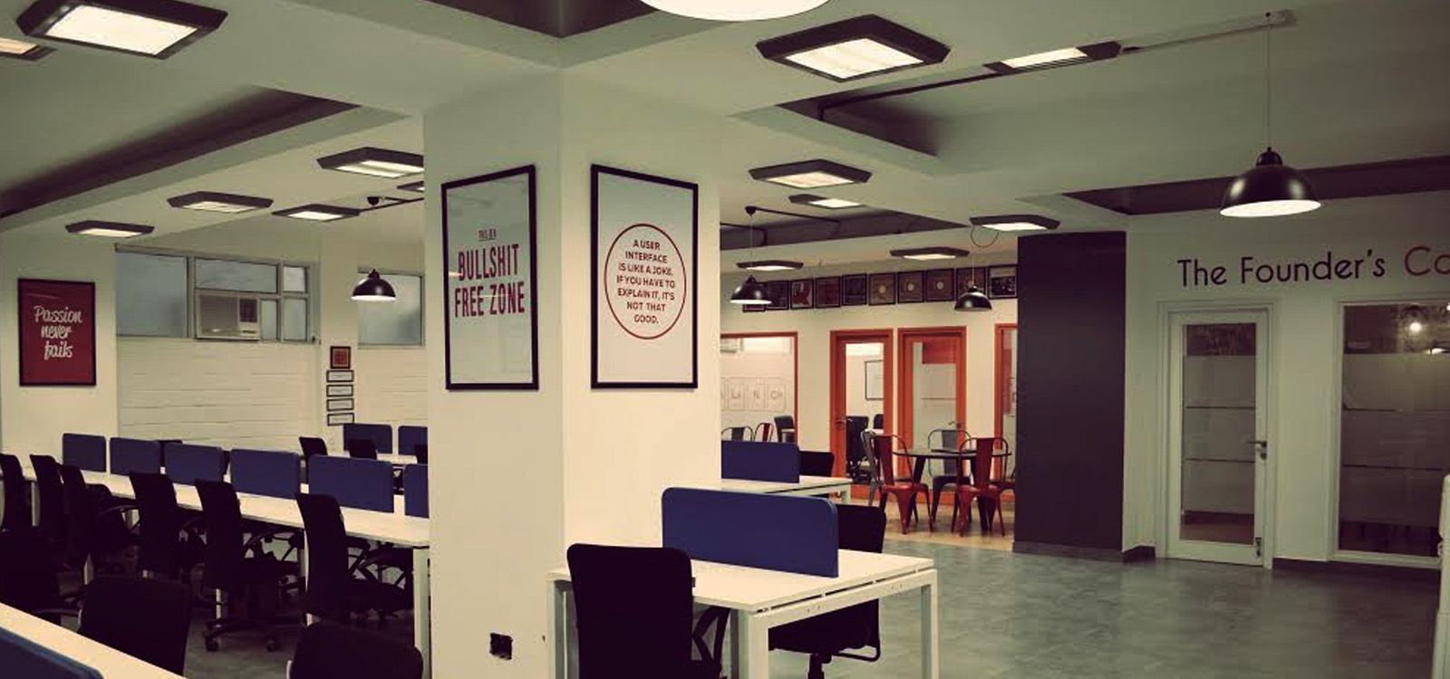 the founders cafe - coworking spaces in new delhi